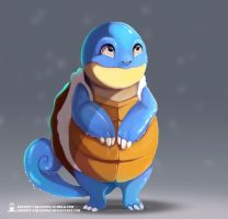 Kanto - Squirtle repaint by ArtKitt-Creations