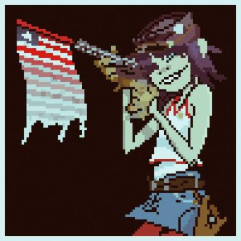 Gorillaz - Dirty Harry 16 bit Cover Page by MorganYoung