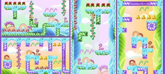 Christmas tilesets Platform game asset by Huy137