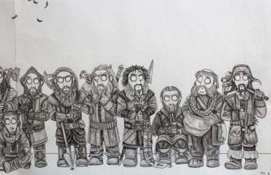 The Hobbit - Fellowship (Detail, Part2) by FrerinHagsolb