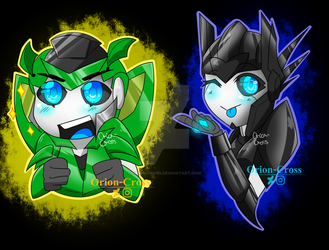 Chibiformers: Mazda and Orion by Orion-Cross