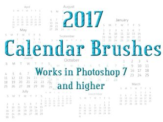 Calendar 2017 Photoshop Brushes by nutamu