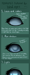 Tutorial for blind eyes! by meokami