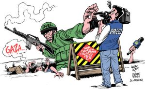 Israel Press Freedom by Latuff2