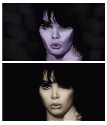 Digital Portrait Compared to Reference Image by ForthSanity