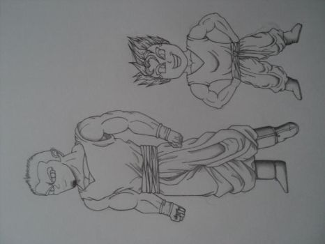 Me and my nephew in DBZ Fashion by MoonmansArtworks