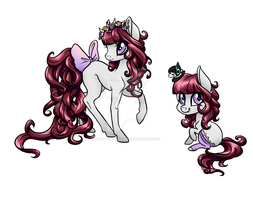 Goth Lolita Pony contest entry by Zombies8MyWaffle