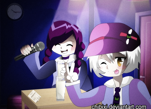 A Night Out at Karaoke -- WIP Murder Mystery Game by Chibixi