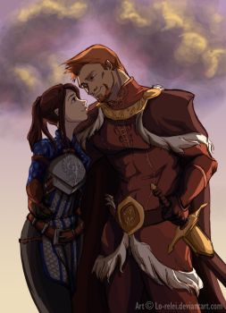 Alistair and Dialeanor - sunset by Lo-Relei