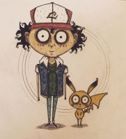 Ash and Pikachu by november-ludgate