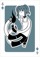 Adventure Time Style Rin - Four of Spades by catiniata
