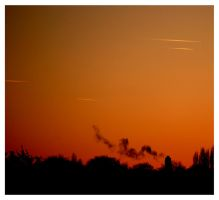 Chemtrails in the Winter Sky by MrHSingh
