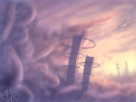 City in the Clouds by DM7
