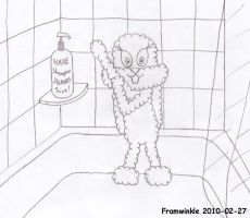 Babs in the shower by Framwinkle
