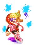 Splatoon Makup! (Corazon and Law from OP) | COLLAB by MajorasMasks