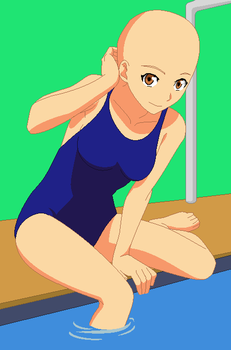 Base - Swimmer Girl by Butterfly-Bases