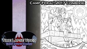 [VIDEO] - Camp Feral Colouring Conbook Art by Temrin