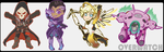 Overwatch acrylic charms by SoloAzume