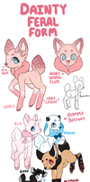 Dainty Feral Form Reference by Pajuxi-Adopts
