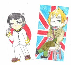 Japan and England by TropicaIDeer