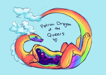 Patron Dragon of the Gays by VoraciousPanda