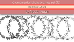 6 Ornamental Circle Brushes Set 02 by noema-13