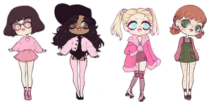 fluffy pink girls {closed} by panowie-pedauowie