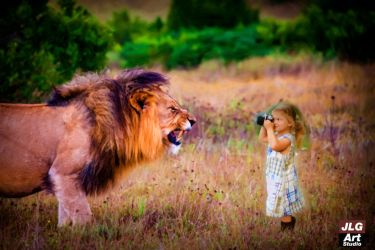 The Lion and the girl photographer by jlgartstudio