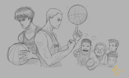 Slam Dunk - Sketch by shanku