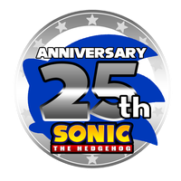 Sonic 25th Anniversary Logo Recreation by Sonicxhero4
