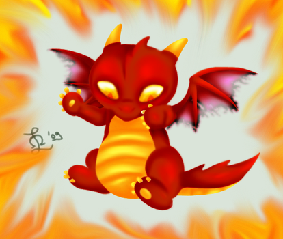 Baby Dragon ID by AxelSmile
