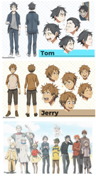 Tom and Jerry Gijinka Anime by Cioccolatodorima