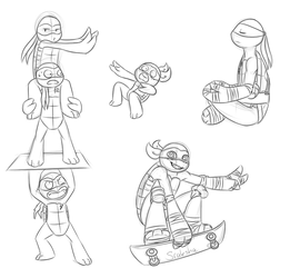 TMNT sketches by Sraksha