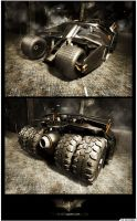 Batmobile - The Tumbler by artist-tortured