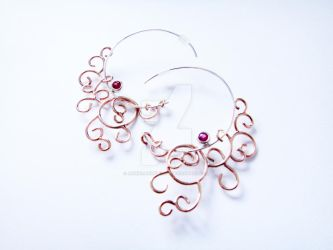 Wedding Commission #1: Filigree Earrings by annielijewellery