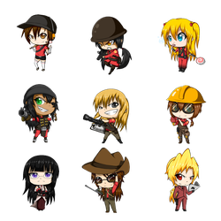 Chibi Fortress 2 RED by Tyxant