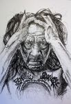 Danny Trejo - Scribble Drawing by KaiSchuebeck