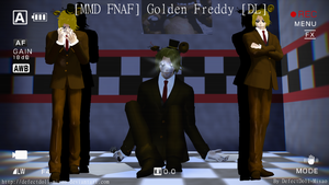 [MMD FNAF] Golden Freddy [DL] by DefectDoll-Misao
