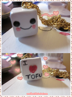 I Love Tofu Necklace by Remittent