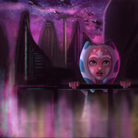 coruscant nighttime by Impossible--Dreams