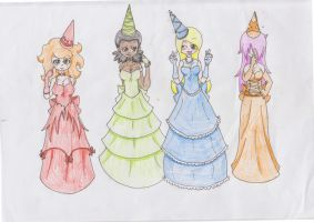 Castle Crashers 4 princesses by zombielover94