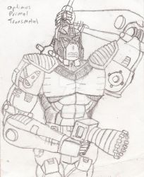 League of the Convoys: Transmetal Optimus Primal by UnicronHound