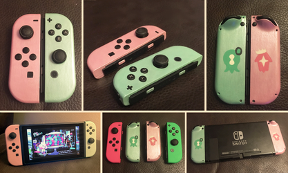 Off the Hook - Octo Expansion Custom Joycons by k-times-two