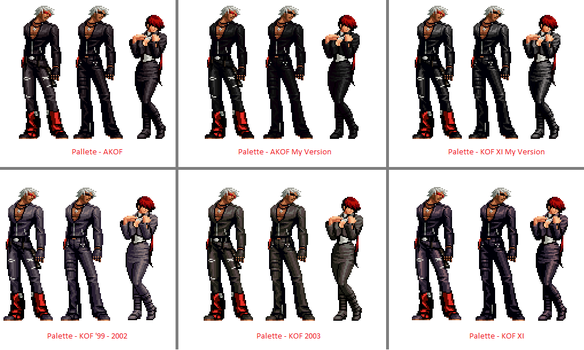 KOF K' Palletes for Shermie + HF K' edited by me by masterelite997