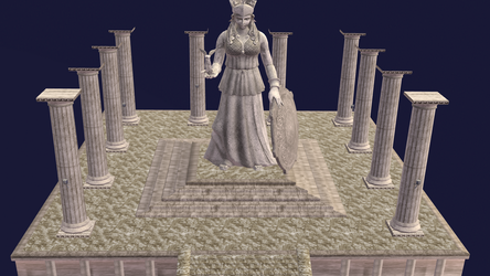 Stage - Athena Statue by castymaat