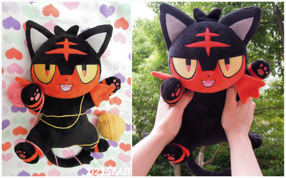 Litten plush for Auction(closed) by d215lab