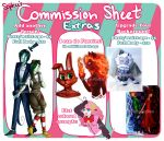 .:Commission Sheet:. Part 2 by Bunnairry
