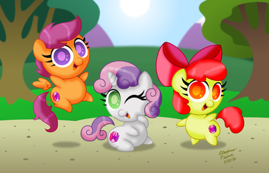 Chibi Ponies:  Cutie Mark Crusaders by AleximusPrime