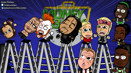 Money in the Bank 2015 - WWE Chibi Wallpaper by kapaeme