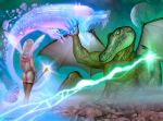 Glayshea and the War Lord Reptilicon by joebotzer